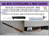 MA BOX COUTELLERIE A PRIX CANON  - PACK 3 COUTEAUX - NEUF