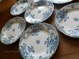 Sarreguemines faience  moscou raviers 15 assiettes
